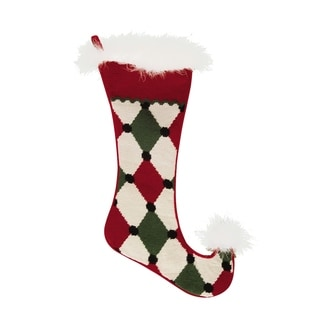 Jester Needlepoint Stocking Diamond