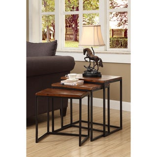 Somette Mocha 3-Tier Nesting Accent Tables (Set of 3)