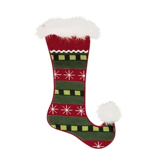 Jester Needlepoint Stocking Snowflakes