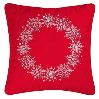 Snowflake Wreath Pillow