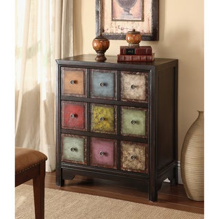 """Somette Multicolor Weathered 3-Drawer Chest - 27""""L x 14.5""""W x 31.5""""H"""