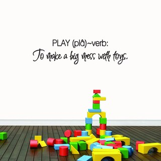 Play 38-inch x 10-inch Wall Decal