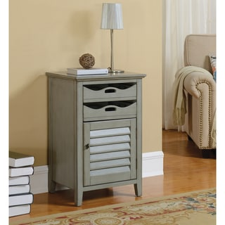 "Somette Grey 2-Drawer, 1 Door Cabinet - 20""L x 16""W x 30.5""H"