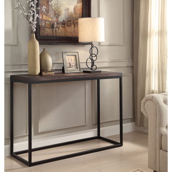 Somette pecan sofa table free shipping today overstock for Sofa ideal cordoba