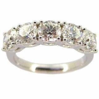 Kabella 18k White Gold 1 1/2ct TDW 5-stone Diamond Ring