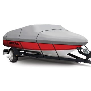 Coverking Presidium Grey V-Hull Fishing Boat (A) 12 - 14 ft. x 75-inch BW Semi-custom Boat Cover