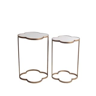 Privilege Gold Iron Stands (Set of 2)