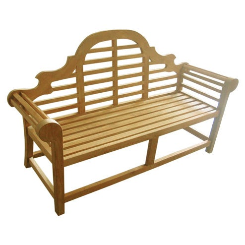 D-Art Teak Lutyen 3-seater Bench (Indonesia) (Natural Col...