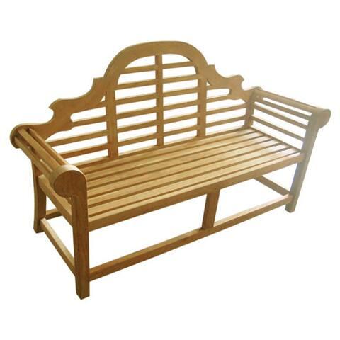 D-Art Collection Teak Wood Lutyen 3 Seater Bench - N/A