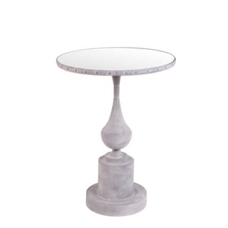 Privilege Dry Brushed Silver Round Iron Table