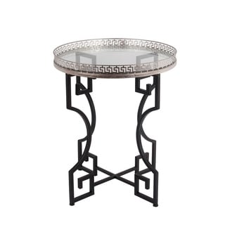 Privilege Silver and Iron Accent Table