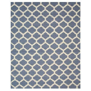 Blue Handmade Heritage Mahal Blue Gold Wool At Overstock Com