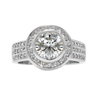 Brass Bezel Set CZ Wedding Ring