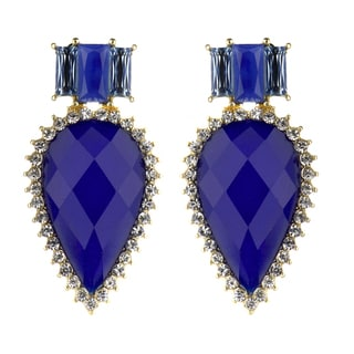Blue Pear Drop Earrings