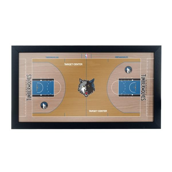 Minnesota Timerberwolves Official NBA Court Framed Plaque