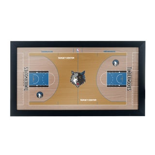 Minnesota Timerberwolves Official NBA Court Framed Plaque