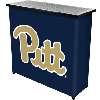 University of Pittsburgh 2 Shelf Portable Bar w/ Case