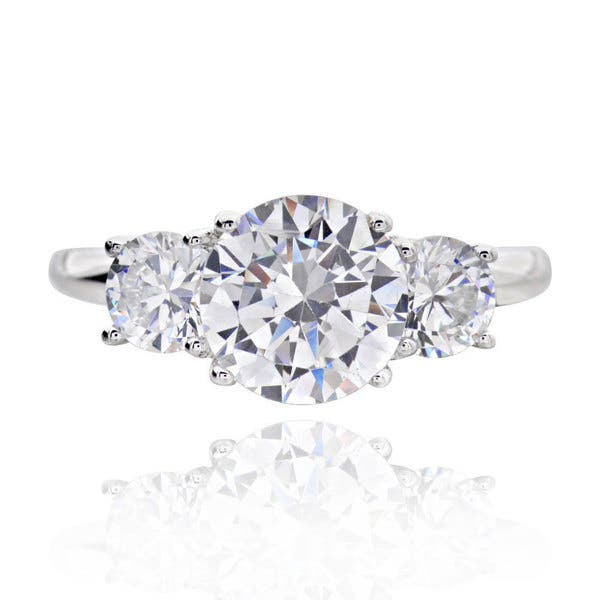 56ab8232054f5 Sterling Silver 3ct TGW 3-stone Round Cubic Zirconia Bridal Engagement Ring  (China)