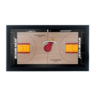 Miami Heat Official NBA Court Framed Plaque