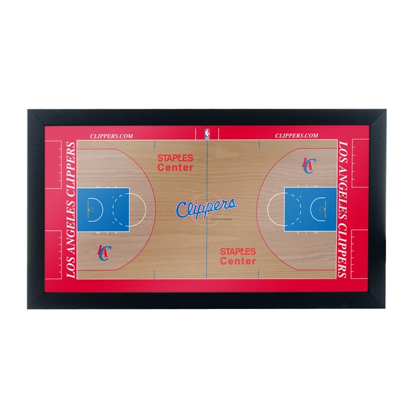 Los Angeles Clippers Official NBA Court Framed Plaque