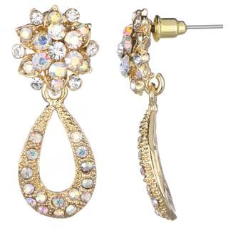 70's Style Gold Dangle Earrings