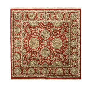 EORC Hand Knotted Wool Red Jaipur Rug (10' Square)