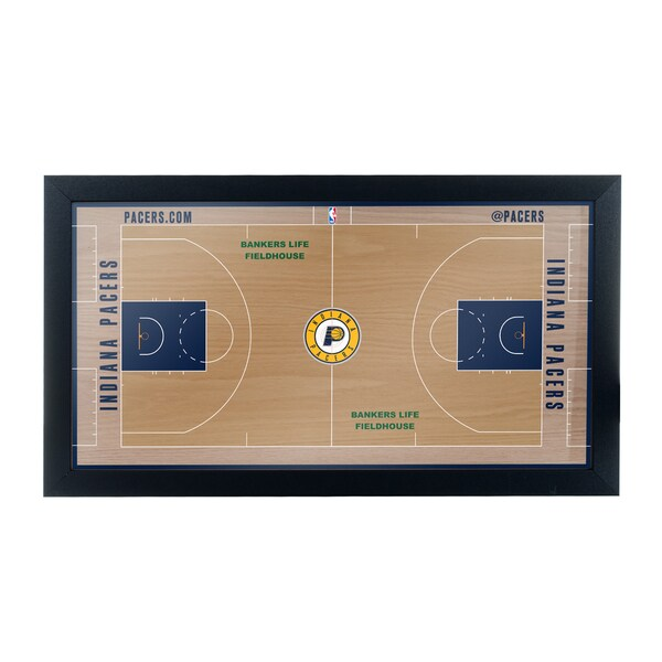 Indiana Pacers Official NBA Court Framed Plaque