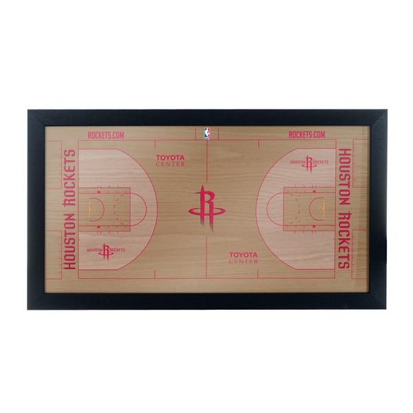 Houston Rockets Official NBA Court Framed Plaque
