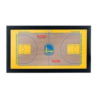 Golden State Warriors Official NBA Court Framed Plaque