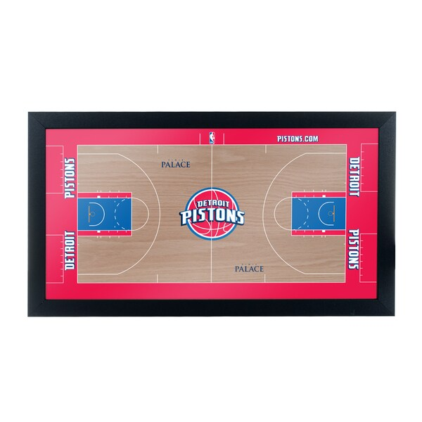 Detroit Pistons Official NBA Court Framed Plaque