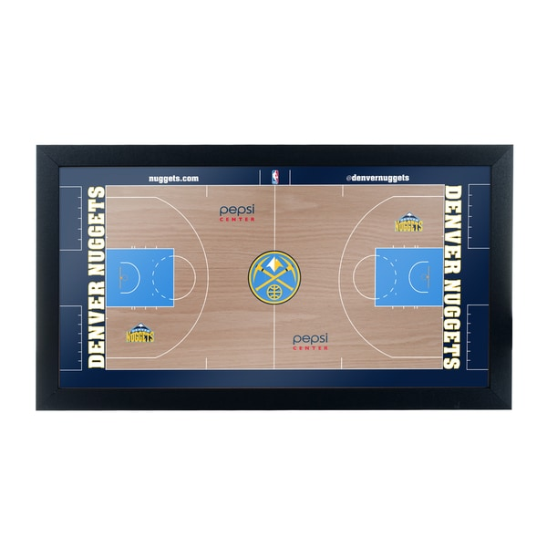 Denver Nuggets Official NBA Court Framed Plaque