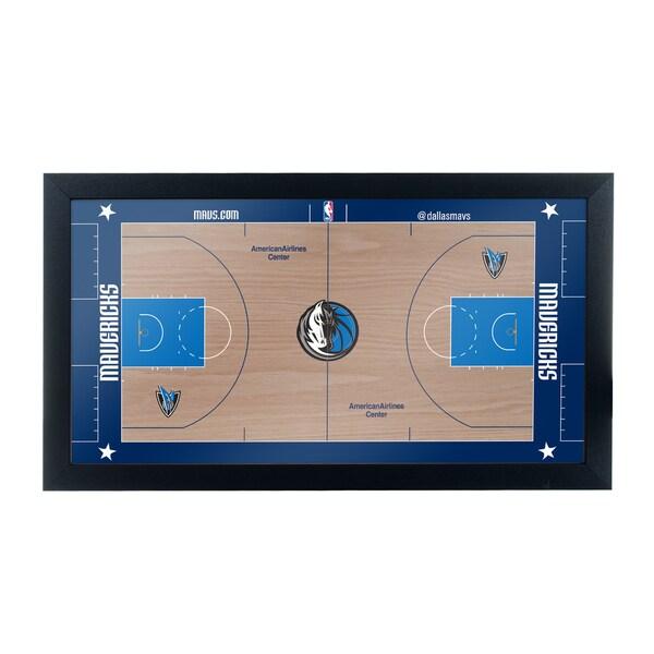 Dallas Mavericks Official NBA Court Framed Plaque