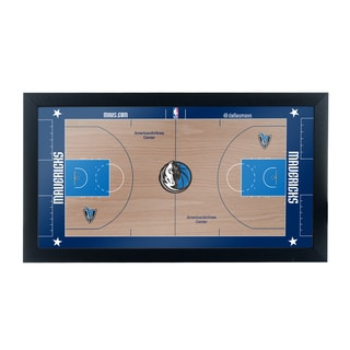 Dallas Mavericks Official NBA Court Framed Plaque