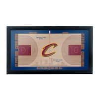 Cleveland Cavaliers Official NBA Court Framed Plaque