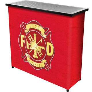Fire Fighter Metal 2 Shelf Portable Bar w/ Carrying Case
