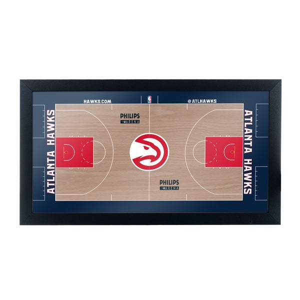 Atlanta Hawks Official NBA Court Framed Plaque