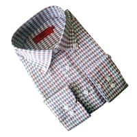 Elie Balleh Milano Italy Men's Beige Print Slim Fit Shirt