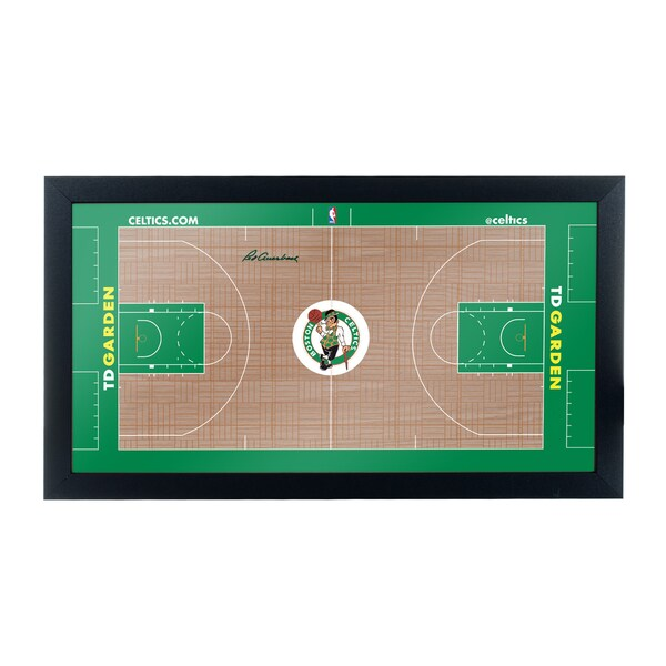 Boston Celtics Official NBA Court Framed Plaque