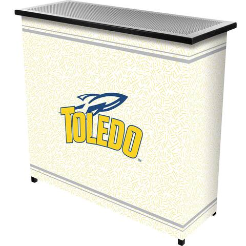 University of Toledo 2 Shelf Portable Bar w/ Case