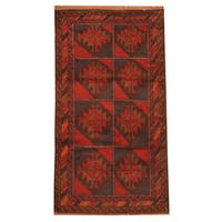 Herat Oriental Afghan Hand-knotted Tribal Balouchi Wool Rug (2'7 x 4'9) - 2'7 x 4'9