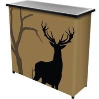 Hunting Deer 2 Shelf Portable Bar w/ Case