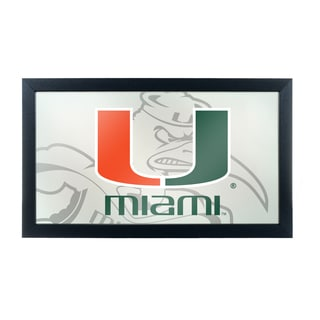 University of Miami Framed Logo Mirror