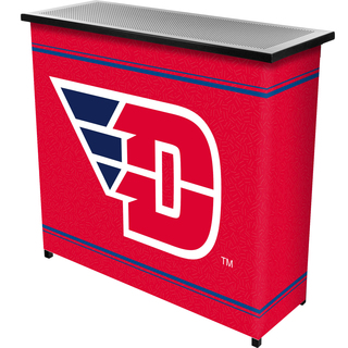 University of Dayton 2 Shelf Portable Bar w/ Case