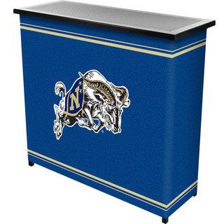 United States Naval Academy 2 Shelf Portable Bar w/ Case