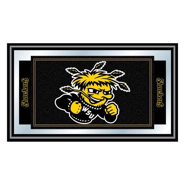 Wichita State University Logo and Mascot Framed Mirror