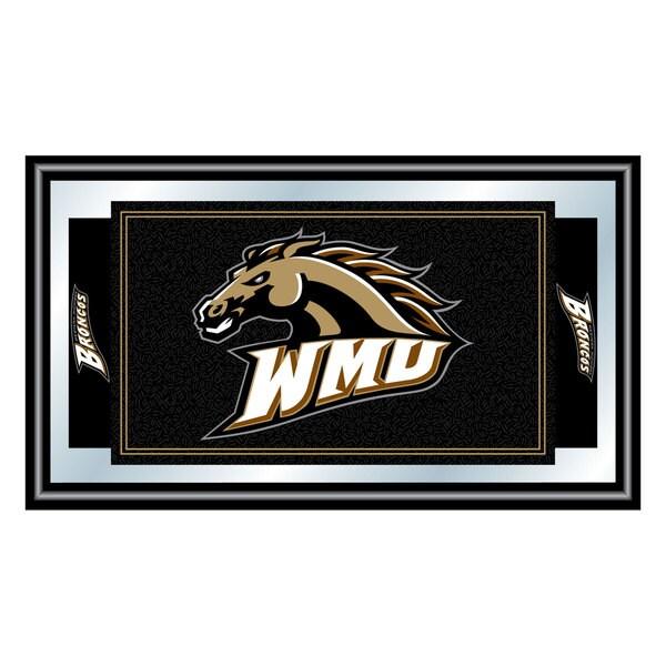 Western Michigan University Logo and Mascot Framed Mirror
