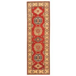 Herat Oriental Afghan Hand-knotted Tribal Kazak Wool Runner (2'11 x 9'6)