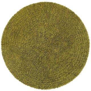 Moss Shagadelic Chenille Twist (2'x2') Round Shag Rug