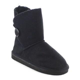 Beston Women's Button Faux Fur Short Boots