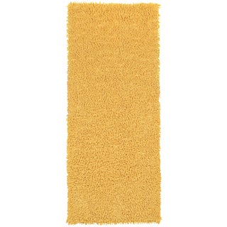 Yellow Shagadelic Chenille Twist (2'x5') Shag Runner